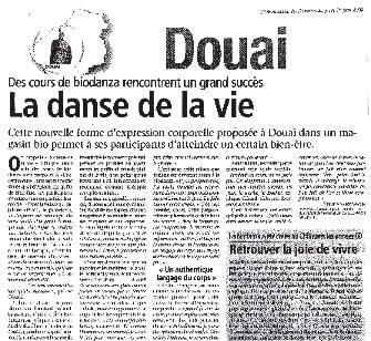 La danse de la vie L'Observateur du Douaisis du 26/06/2008